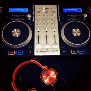 DeeJay Shelly's Numark Mix Deck and Red Head Phones
