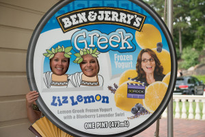 Marcella and Holland at Ben and Jerrys