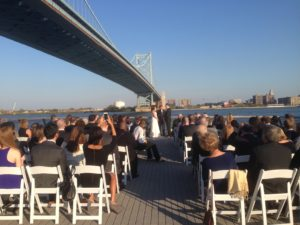 Philadelphia Wedding Ceremony Race Street Pier